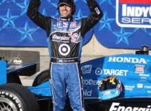 Dario Franchitti wins the Peak Pole Award for the 2009 Bombardier Learjet 550k at Texas Motor Speedway. Photo by George Walker