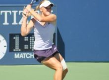 Melanie Oudin at the 2009 US Open. Photo by George Walker.