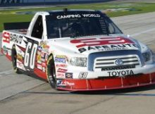Stacy Compton practices for the NCWTS Winstar World Casino 350k at Texas Motor Speedway. Photo by George Walker.