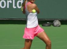 Victoria Azarenka at the BNP Paribas Open in Indian Wells, CA. Photo by George Walker.