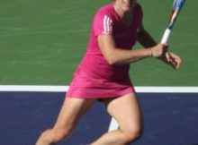 Justine Henin at the 2010 BNP Paribas Open. Photo by George Walker