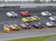 A 10-car accident on the final lap of the race was started when Jamie McMurray was spun in Turn 4. Credit: John Harrelson/Getty Images for NASCAR