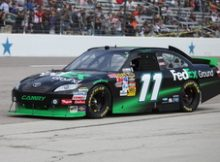Denny Hamlin at the 2010 Samsung Mobile 500 at Texas Motor Speedway. Photo by Davic Dwyer