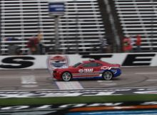 Enjoying a pace car ride at Texas Motor Speedway. Photo by David Dwyer.