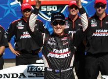 Ryan Briscoe wins the Peak Performance Pole Award at Texas. Photo by George Walker