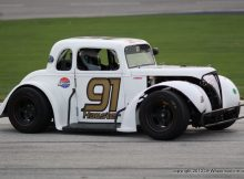 Zachary Hausler in the Legends racing series. Photo by George Walker