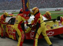 Kevin Harvick's pit crew in action at Texas Motor Speedway. Photo by George Walker