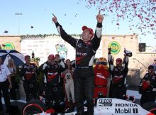 Will Power celebrates in Victory Lane at Sonoma. Photo by Ron McQueeney for IZOD IndyCar Series.