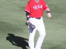Josh Hamilton of the Texas Rangers. Photo by George Walker