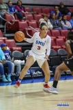 UNIVERSITY PARK, TX - JANUARY 03: Southern Methodist Mustangs guard McKenzie Adams (3) drives to the basket during the women's game between SMU and UCF on January 3, 2018 at Moody Coliseum in Dallas, TX. (Photo by George Walker/Icon Sportswire)