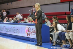 UNIVERSITY PARK, TX - JANUARY 03: UCF Knights head coach Katie Abrahamson-Henderson looks on during the women's game between SMU and UCF on January 3, 2018 at Moody Coliseum in Dallas, TX. (Photo by George Walker/Icon Sportswire)