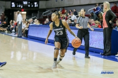 UNIVERSITY PARK, TX - JANUARY 03: UCF Knights guard Lawriell Wilson (23) dribbles during the women's game between SMU and UCF on January 3, 2018 at Moody Coliseum in Dallas, TX. (Photo by George Walker/Icon Sportswire)