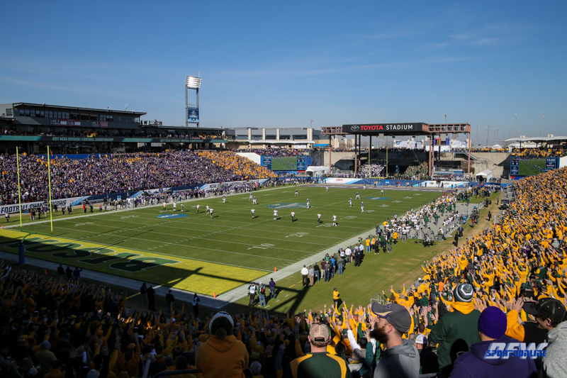 FRISCO, TX - JANUARY 6: Stadium view during the NCAA FCS Championship football game between North Dakota State and James Madison on January 6, 2018 at Toyota Stadium in Frisco, TX. (Photo by George Walker/DFWsportsonline)