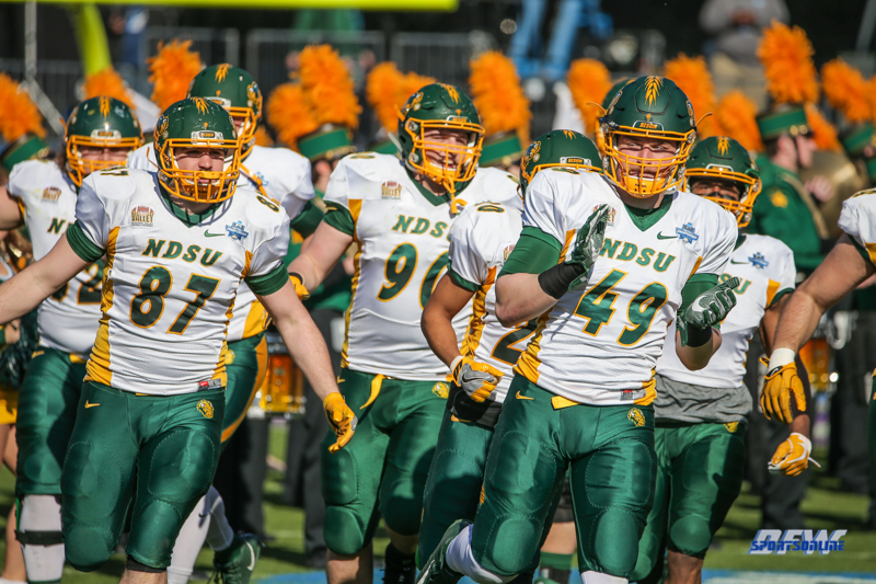 FRISCO, TX - JANUARY 06: North Dakota State takes the field during the FCS National Championship game between North Dakota State and James Madison on January 6, 2018 at Toyota Stadium in Frisco, TX. (Photo by George Walker/Icon Sportswire)