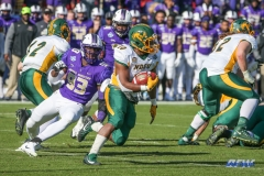 FRISCO, TX - JANUARY 6: North Dakota State Bison running back Lance Dunn (10) runs around the corner during the NCAA FCS Championship football game between North Dakota State and James Madison on January 6, 2018 at Toyota Stadium in Frisco, TX. (Photo by George Walker/DFWsportsonline)