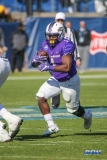 FRISCO, TX - JANUARY 6: James Madison Dukes running back Trai Sharp (1) rushes during the NCAA FCS Championship football game between North Dakota State and James Madison on January 6, 2018 at Toyota Stadium in Frisco, TX. (Photo by George Walker/DFWsportsonline)