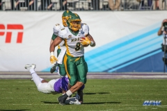 FRISCO, TX - JANUARY 06: North Dakota State Bison running back Bruce Anderson (8) runs to the outside during the FCS National Championship game between North Dakota State and James Madison on January 6, 2018 at Toyota Stadium in Frisco, TX. (Photo by George Walker/Icon Sportswire)