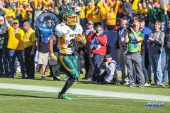 FRISCO, TX - JANUARY 06: North Dakota State Bison wide receiver Darrius Shepherd (20) runs to the end zone for a touchdown during the FCS National Championship game between North Dakota State and James Madison on January 6, 2018 at Toyota Stadium in Frisco, TX. (Photo by George Walker/Icon Sportswire)