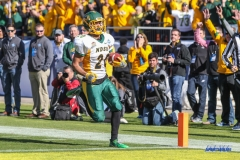 FRISCO, TX - JANUARY 06: North Dakota State Bison wide receiver Darrius Shepherd (20) crosses the goal line for a touchdown during the FCS National Championship game between North Dakota State and James Madison on January 6, 2018 at Toyota Stadium in Frisco, TX. (Photo by George Walker/Icon Sportswire)