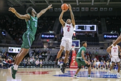 UNIVERSITY PARK, TX - JANUARY 20: Southern Methodist Mustangs guard Jahmal McMurray (0) shoots the ball during the game betweed SMU and Tulane on January 20, 2018 at Moody Coliseum in Dallas, TX. (Photo by George Walker/Icon Sportswire)