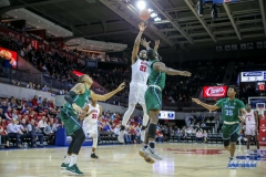 UNIVERSITY PARK, TX - JANUARY 20: Southern Methodist Mustangs guard Ben Emelogu II (21) shoots the ball during the game betweed SMU and Tulane on January 20, 2018 at Moody Coliseum in Dallas, TX. (Photo by George Walker/Icon Sportswire)
