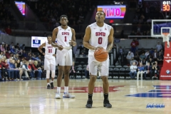 UNIVERSITY PARK, TX - JANUARY 20: Southern Methodist Mustangs guard Jahmal McMurray (0) prepares to shoot a free throw during the game betweed SMU and Tulane on January 20, 2018 at Moody Coliseum in Dallas, TX. (Photo by George Walker/Icon Sportswire)