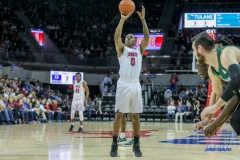UNIVERSITY PARK, TX - JANUARY 20: Southern Methodist Mustangs guard Jahmal McMurray (0) shoots a free throw during the game betweed SMU and Tulane on January 20, 2018 at Moody Coliseum in Dallas, TX. (Photo by George Walker/Icon Sportswire)