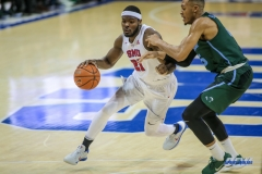 UNIVERSITY PARK, TX - JANUARY 20: Southern Methodist Mustangs guard Ben Emelogu II (21) drives to the basket during the game betweed SMU and Tulane on January 20, 2018 at Moody Coliseum in Dallas, TX. (Photo by George Walker/Icon Sportswire)