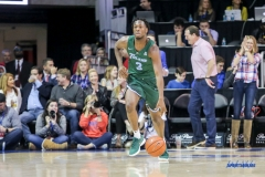 UNIVERSITY PARK, TX - JANUARY 20: Tulane Green Wave guard Ray Ona Embo (3) brings the ball up court during the game betweed SMU and Tulane on January 20, 2018 at Moody Coliseum in Dallas, TX. (Photo by George Walker/Icon Sportswire)
