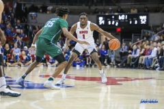 UNIVERSITY PARK, TX - JANUARY 20: Southern Methodist Mustangs guard Shake Milton (1) dribbles during the game betweed SMU and Tulane on January 20, 2018 at Moody Coliseum in Dallas, TX. (Photo by George Walker/Icon Sportswire)