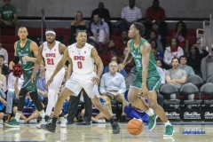 UNIVERSITY PARK, TX - JANUARY 20: Tulane Green Wave guard Ray Ona Embo (3) dribbles during the game betweed SMU and Tulane on January 20, 2018 at Moody Coliseum in Dallas, TX. (Photo by George Walker/Icon Sportswire)