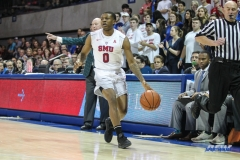 UNIVERSITY PARK, TX - JANUARY 20: Southern Methodist Mustangs guard Jahmal McMurray (0) brings the ball up court during the game betweed SMU and Tulane on January 20, 2018 at Moody Coliseum in Dallas, TX. (Photo by George Walker/Icon Sportswire)