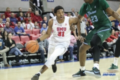 UNIVERSITY PARK, TX - JANUARY 20: Southern Methodist Mustangs guard Jimmy Whitt (31) drives to the basket during the game betweed SMU and Tulane on January 20, 2018 at Moody Coliseum in Dallas, TX. (Photo by George Walker/Icon Sportswire)
