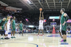 UNIVERSITY PARK, TX - JANUARY 20: Southern Methodist Mustangs guard Shake Milton (1) shoots a free throw during the game betweed SMU and Tulane on January 20, 2018 at Moody Coliseum in Dallas, TX. (Photo by George Walker/Icon Sportswire)