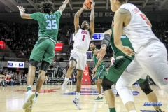 UNIVERSITY PARK, TX - JANUARY 20: Southern Methodist Mustangs guard Shake Milton (1) shoots the ball during the game betweed SMU and Tulane on January 20, 2018 at Moody Coliseum in Dallas, TX. (Photo by George Walker/Icon Sportswire)