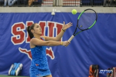 DALLAS, TX - JANUARY 13: Charline Anselmo during the SMU women's tennis match vs Wichita State on January 20, 2018, at the SMU Tennis Complex, Turpin Stadium & Brookshire Family Pavilion in Dallas, TX. (Photo by George Walker/DFWsportsonline)