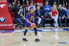 UNIVERSITY PARK, TX - JANUARY 28: East Carolina Pirates guard Shawn Williams (55) brings the ball up court during the game between SMU and East Carolina on January 28, 2018 at Moody Coliseum in Dallas, TX. (Photo by George Walker/Icon Sportswire)