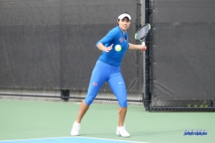 DALLAS, TX - February 03: Ana Perez-Lopez during the SMU women's tennis match vs Texas A&M Corpus Christi on February 3, 2018, at the SMU Tennis Complex, Turpin Stadium & Brookshire Family Pavilion in Dallas, TX. (Photo by George Walker/DFWsportsonline)