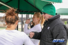 Denton, TX - February 3: Associate Coach Jeff Hammond during the UNT Mean Green Women's Tennis dual match against the IOWA Hawkeyes on February 3, 2018 at the Waranch Tennis Complex in Denton, TX. (Photo by Mark Woods/DFWsportsonline)