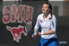 DALLAS, TX - FEBRUARY 4: Liza Buss during the SMU women's tennis match vs Iowa on February 4, 2018, at the SMU Tennis Complex, Turpin Stadium & Brookshire Family Pavilion in Dallas, TX. (Photo by George Walker/DFWsportsonline)