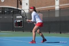 DALLAS, TX - FEBRUARY 4: Anzhelika Shapovalova during the SMU women's tennis match vs Iowa on February 4, 2018, at the SMU Tennis Complex, Turpin Stadium & Brookshire Family Pavilion in Dallas, TX. (Photo by George Walker/DFWsportsonline)