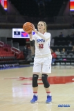 UNIVERSITY PARK, TX - FEBRUARY 07: Southern Methodist Mustangs center Klara Bradshaw (13) shoots a free throw during the game between SMU and Tulsa on February 7, 2018, at Moody Coliseum in Dallas, TX. (Photo by George Walker/Icon Sportswire)
