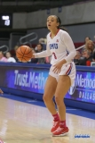 UNIVERSITY PARK, TX - FEBRUARY 07: Southern Methodist Mustangs guard McKenzie Adams (3) dribbles during the game between SMU and Tulsa on February 7, 2018, at Moody Coliseum in Dallas, TX. (Photo by George Walker/Icon Sportswire)