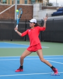 DALLAS, TX - FEBRUARY 09: Tiffany Hollebeck during the SMU women's tennis match vs UCF on February 9, 2018, at the SMU Tennis Complex, Turpin Stadium & Brookshire Family Pavilion in Dallas, TX. (Photo by George Walker/DFWsportsonline)
