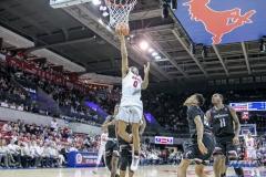DALLAS, TX - FEBRUARY 11: SMU vs Cincinnati on February 11, 2018, at Moody Coliseum in Dallas, TX. (Photo by George Walker/SMU)