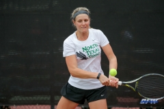 RANCHO MIRAGE, CA - MARCH 10: Ivana Babic during the North Texas tennis match vs Wichita State on March 10, 2018, at the Sunrise Country Club in Rancho Mirage, CA. (Photo by George Walker/DFWsportsonline)