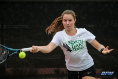 RANCHO MIRAGE, CA - MARCH 10: Sille Tranberg during the North Texas tennis match vs Wichita State on March 10, 2018, at the Sunrise Country Club in Rancho Mirage, CA. (Photo by George Walker/DFWsportsonline)