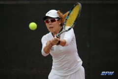 RANCHO MIRAGE, CA - MARCH 10: Minying Liang during the North Texas tennis match vs Wichita State on March 10, 2018, at the Sunrise Country Club in Rancho Mirage, CA. (Photo by George Walker/DFWsportsonline)