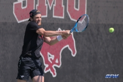 DALLAS, TX - MARCH 14: Action during the SMU tennis match vs Columbia on March 14, 2018, at the SMU Tennis Complex, Turpin Stadium & Brookshire Family Pavilion in Dallas, TX. (Photo by George Walker/DFWsportsonline)