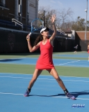 DALLAS, TX - MARCH 16: Tiffany Hollebeck during the SMU women's tennis match vs Troy on March 16, 2018, at the SMU Tennis Complex, Turpin Stadium & Brookshire Family Pavilion in Dallas, TX. (Photo by George Walker/DFWsportsonline)